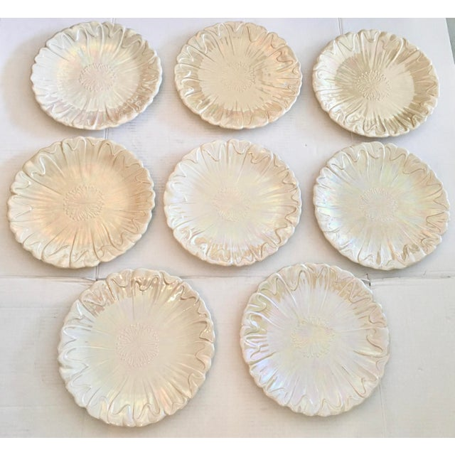 Set of eight dinner plates made in 1978 by Fitz & Floyd. They were made in Japan. They are an Art Nouveau design with an...