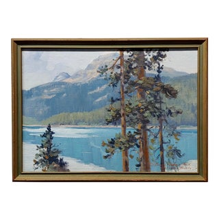 "George Browne ""Emerald Lake"" Expressionist Oil Painting For Sale"