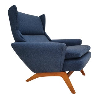 Danish Armchair by Georg Thams, 70s, Completely Reupholstered For Sale