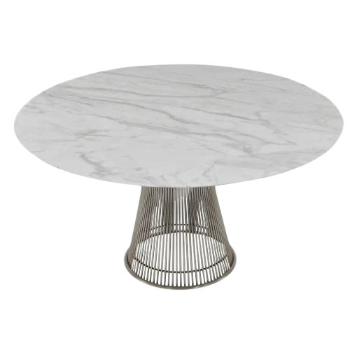 Mid Century Modern William Platner 70's Marble Top Table For Sale