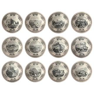 Villeroy & Boch Le Grand Duche De Luxembourg Plates - Set of 12 For Sale
