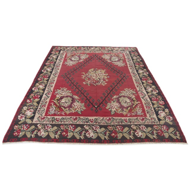 "Anatolia Turkish Kilim Large Rug - 9'6"" X 10'8"" - Image 1 of 10"