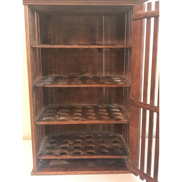 1930s French Walnut Egg Wall Cabinet For Sale - Image 4 of 12