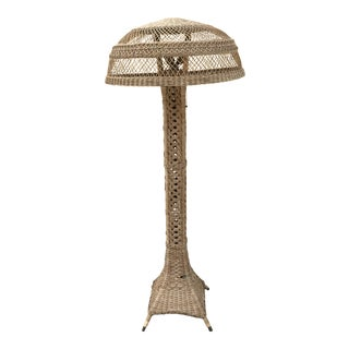 Early 20th Century Victorian Wicker Floor Lamp For Sale