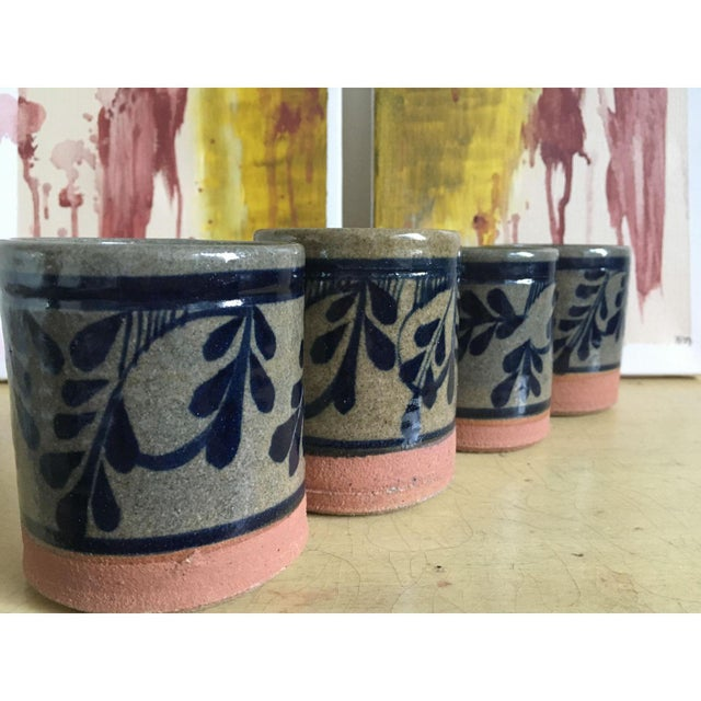 Painted Pottery & Terra Cotta Rocks Glasses - Set of 4 - Image 7 of 8