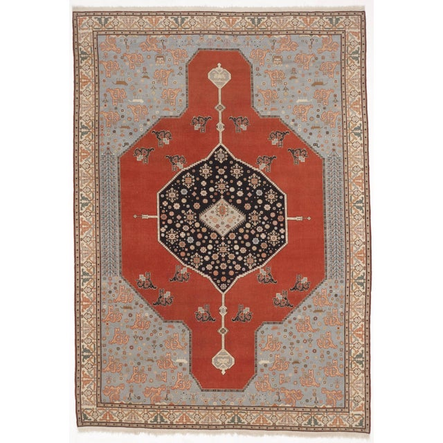 "Hand-Knotted Turkish Serapi Rug - 8'7""x 12' For Sale"