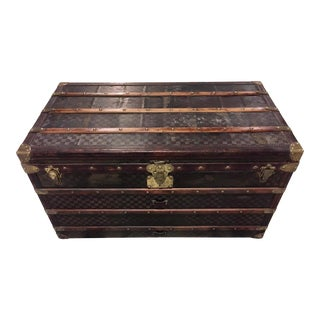 1890s Louis Vuitton Damier Leather Courier Trunk For Sale