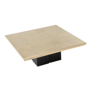 Christian Heckscher Brass Etched Coffee Table For Sale