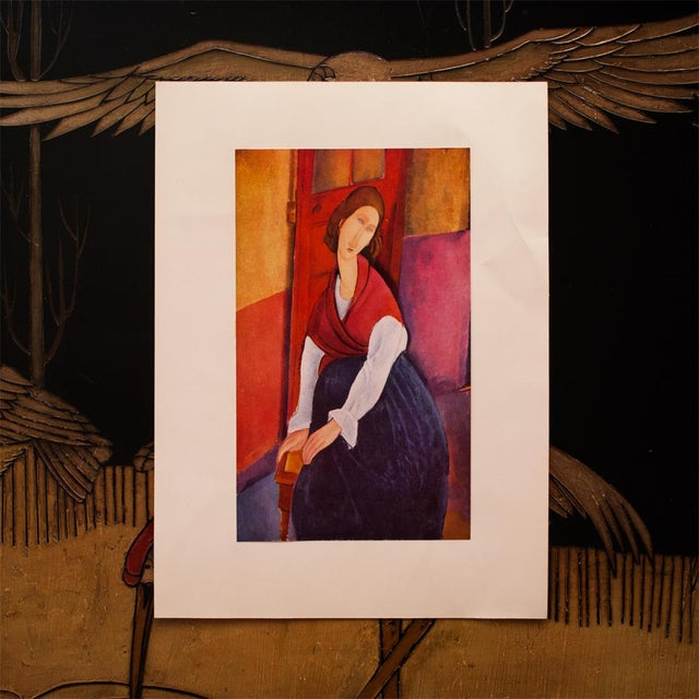 Modern 1958 A. Modigliani, First Edition Lithograph After Portrait of Jeanne Hébuterne For Sale - Image 3 of 9