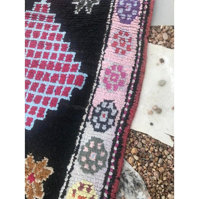 Textile Hand Made Vintage Nomadic Boho Style Turkish Runner- 2′4″ × 10′11″ For Sale - Image 7 of 9