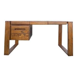 Executive Oak Desk by Lou Hodges For Sale