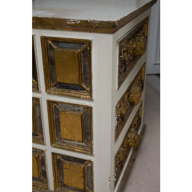 Late 19th Century Pair of Italian White and Parcel-Gilt Chests For Sale - Image 5 of 11