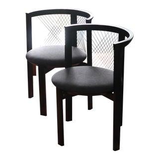 1980s Vintage Niels Jørgen Haugesen Dining Chairs - a Pair For Sale
