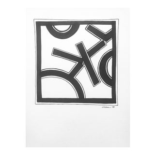 """Modern Original Pen & Ink Drawing, """"Pieces"""" by Christy Almond For Sale"""