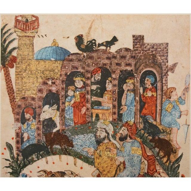 1940's Vintage Original Persian 1237 A.D. Lithograph For Sale - Image 4 of 9