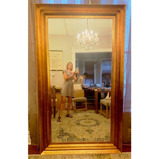 Art Deco Gold Leaf Beveled Glass Mirror For Sale - Image 13 of 13