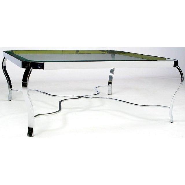 DIA - Design Institute America DIA Chrome & Brass Coffee Table For Sale - Image 4 of 6