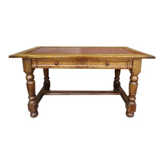 19th Century French Pine Wood Writing Table