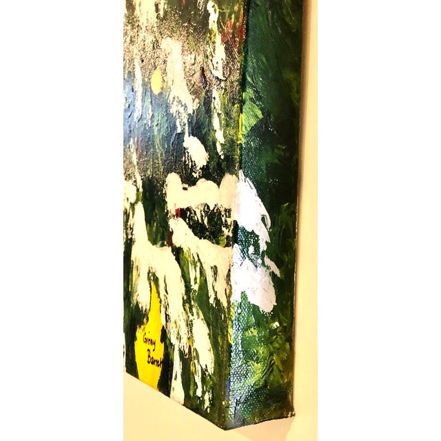 Meyer Lemons in the Snow Acrylic on Stretched Canvas Signed by Artist Framed Green Yellow White For Sale - Image 4 of 11
