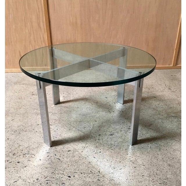 Paul Mayen for Habitat Aluminum X Base Side Table For Sale - Image 9 of 9