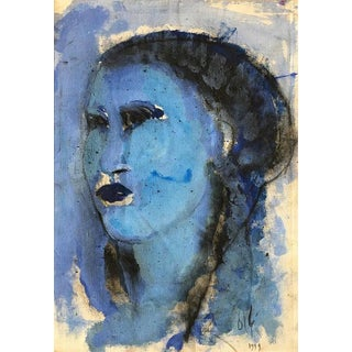 "Contemporary Abstract Oil Painting ""Estudios Azul"" by Elisabeth Ollé Curiel For Sale"