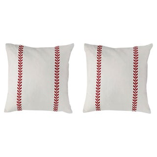 Antique French Linen Pillows - a Pair For Sale