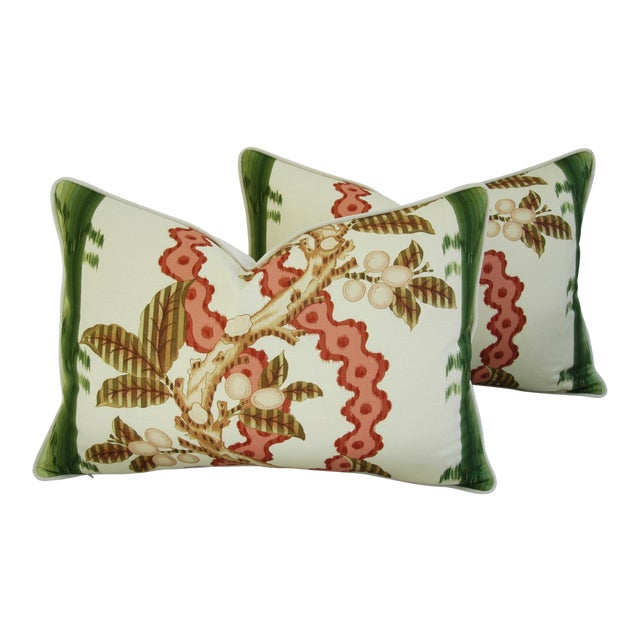 "Brunschwig & Fils Josselin Feather/Down Pillows 26"" X 18"" - Pair For Sale"