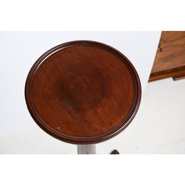 Antique English Mahogany Torchere or Plant Stand For Sale - Image 4 of 13