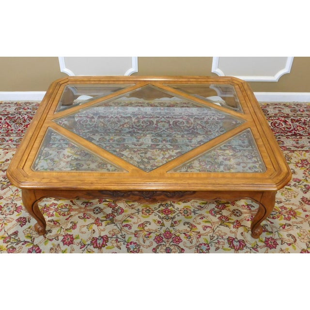 French Country Drexel Heritage Cabernet Collection Coffee Table For Sale - Image 3 of 9