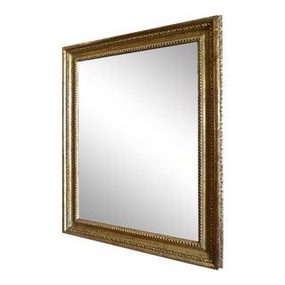 Vintage French Gold-Leaf Handcrafted Framed Mirror For Sale