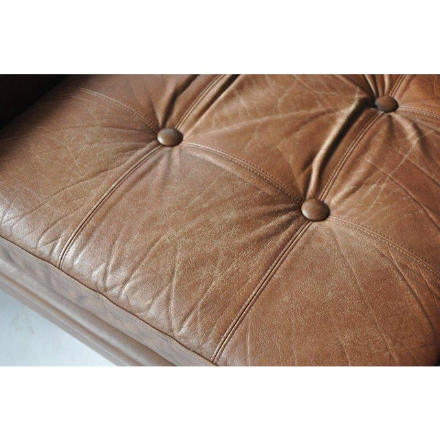 Animal Skin Pair of Svend Skipper Leather Lounge Chairs For Sale - Image 7 of 8