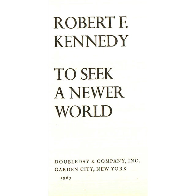"Mid-Century Modern 1967 ""First Edition, to Seek a Newer World"" Collectible Book For Sale - Image 3 of 5"