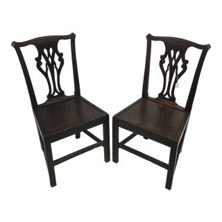 19th Century Oak Chairs - a Pair For Sale