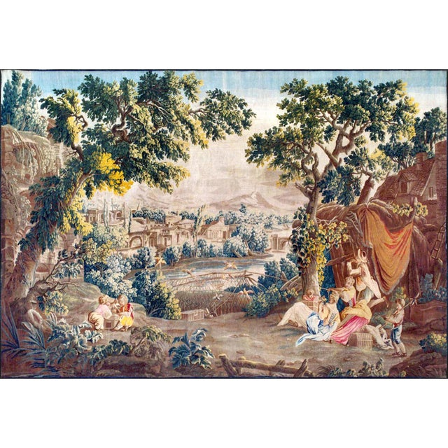 18th Century Antique Tapestry From Royal Manufacture of Aubusson - L'Oiseleur For Sale - Image 6 of 6