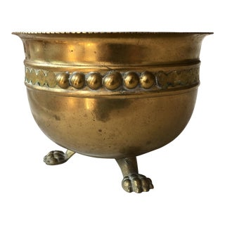 Decorative Clawfoot Brass Bowl For Sale