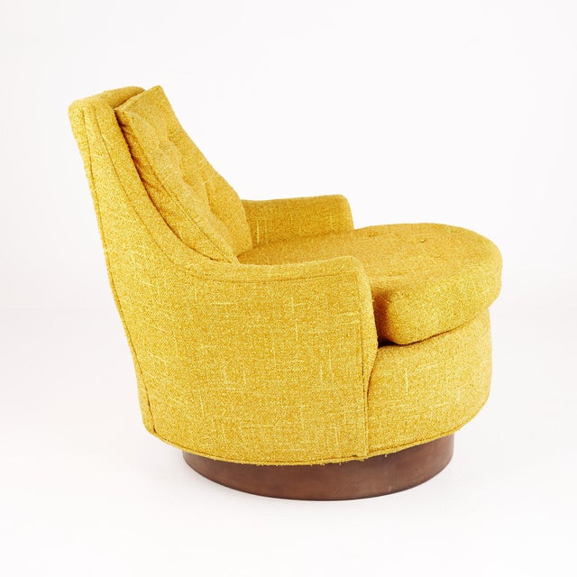 Adrian Pearsall Adrian Pearsall Style Mid Century Swivel Lounge Chair For Sale - Image 4 of 10
