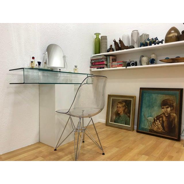 2010s Calligaris Italian Glass Floating Vanity or Shelf For Sale - Image 5 of 12