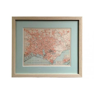 Framed Antique Map of Marseille, France For Sale