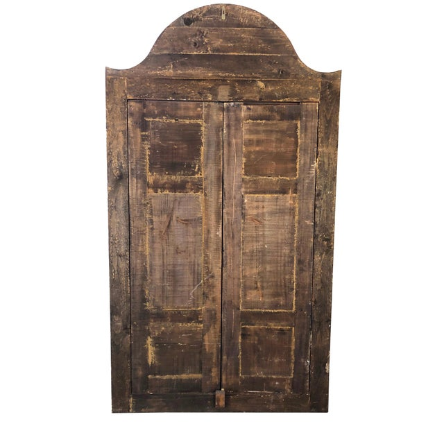 1940s Vintage Hand-Painted Ottoman Style Wood Panel / Door For Sale - Image 9 of 10