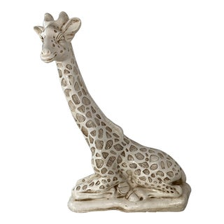 1970s Large White Giraffe Sculpture / Figurine For Sale