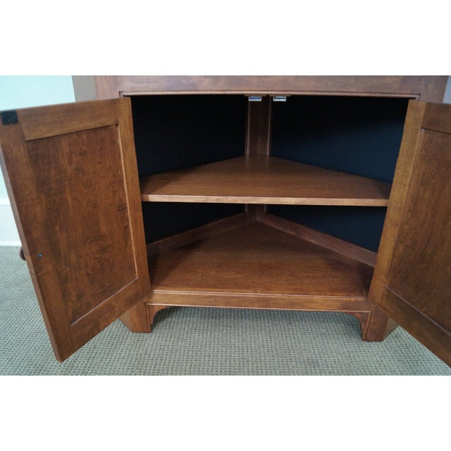 Custom Quality Solid Maple Country Corner Cabinet - Image 7 of 9