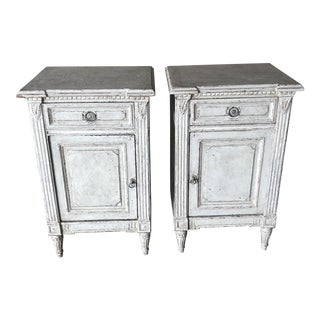 20th Century French Painted Nightstands - a Pair