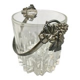 Image of Vintage Glass & Silver Ice Bucket For Sale
