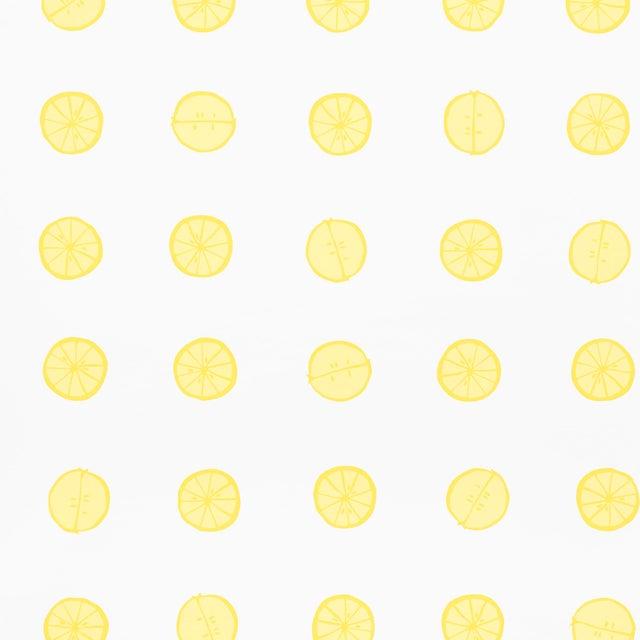 Schumacher X Vera Neumann Lemonade Wallpaper in Lemon For Sale