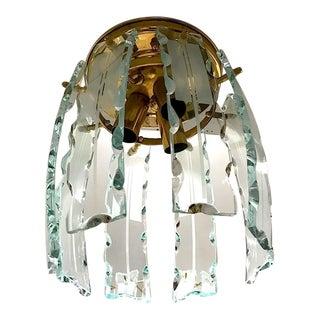 Fontana Arte Murano Crystal Gilt Frame, 1970