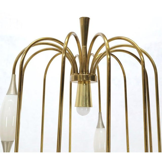 Large Waterfall Brass Floor Lamp Light Fixture For Sale - Image 11 of 12