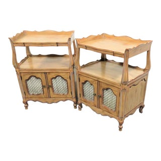 Louis XV Faux Painted Nightstands - a Pair For Sale