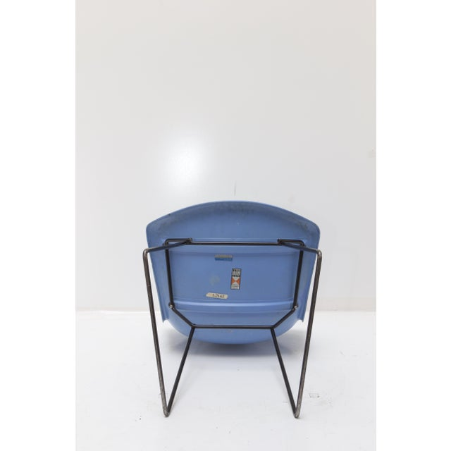Knoll Bertoia Fiberglass Side Chair Blue - Image 5 of 11