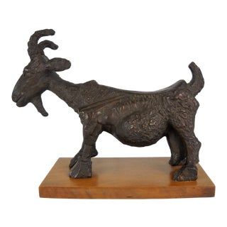 1960s She-Goat Sculpture For Sale