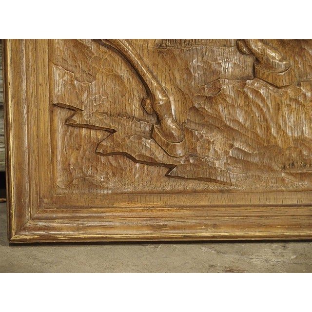 Set of Three Bas Relief Carved Belgian Panels, Circa 1930 For Sale - Image 12 of 13